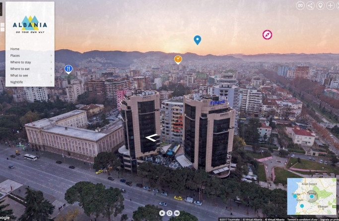 VIRTUAL ALBANIA shows country's top tourist attractions in the easiest possible way