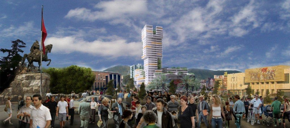 """""""Eyes of Tirana"""", the newest building in Tirana"""