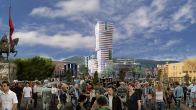 """Eyes of Tirana"", the newest building in Tirana"