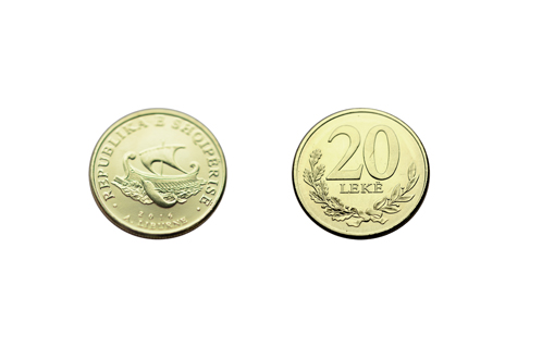 Bank of Albania releases Albanian metal coin with a legal tender rate of 20 Lekë
