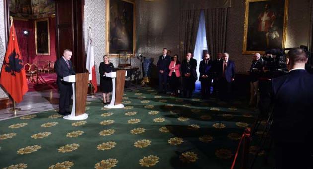 'Malta looks forward to more cooperation with Albania' – President Coleiro Preca