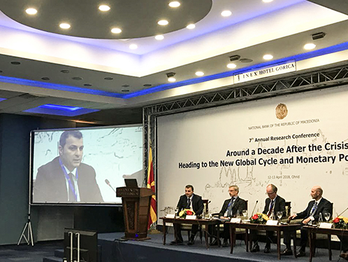 Governor Sejko participate at the 7th Annual Research Conference of the National Bank of the Republic of Macedonia
