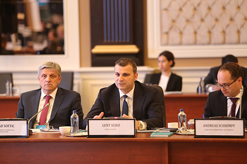 Governor of the Bank of Albania, Gent Sejko attends the meeting of the Governor's Club of Central Asia, the Black Sea Region and the Balkans