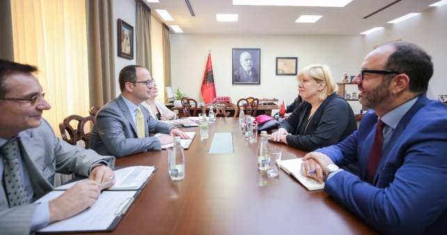 Minister Bushati hosts the meeting of the Council of Europe Commissioner for Human Rights, Dunja Mijatović