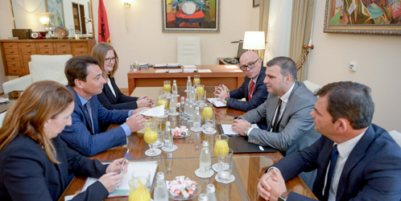 Governor Sejko holds a meeting with representatives of the European Fund for South Eastern Europe