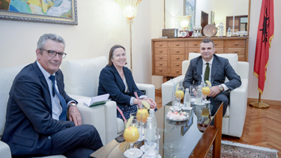 Governor of the Bank of Albania, Gent Sejko, meets the Ambassador of the French Republic in Tirana & the Head of the Regional Economic Sector, resident in Sofia