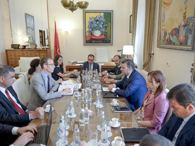 Governor Sejko holds a meeting with representatives of the International Monetary Fund