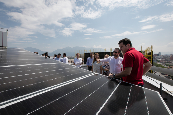 THE FIRST SOLAR PANEL PLANT IN TIRANA