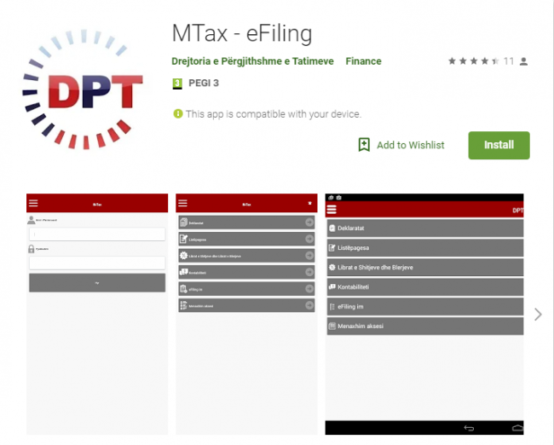 M-Tax eFiling, taxpayers use the application that informs you on tax records