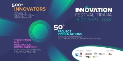 THE INNOVATION FESTIVAL COMES TO TIRANA ON SEPTEMBER 18-20, 2018