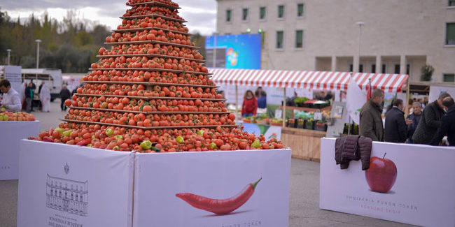 """Fair of Domestic Agricultural Products, """"Albania Works the Land"""""""