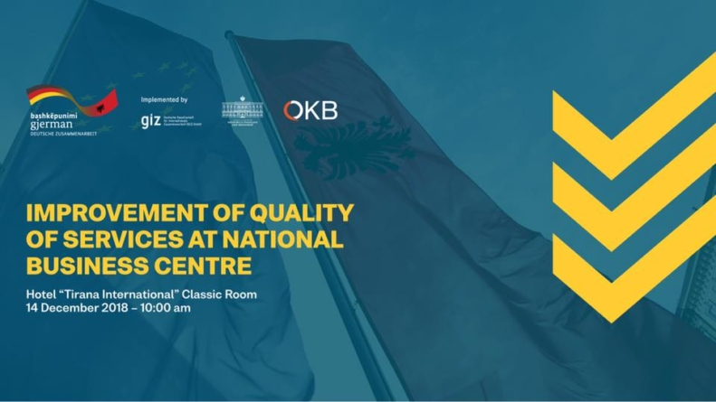 Improvement of quality of services at the National Business Center