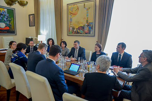 Governor Sejko holds a meeting with the International Monetary Fund