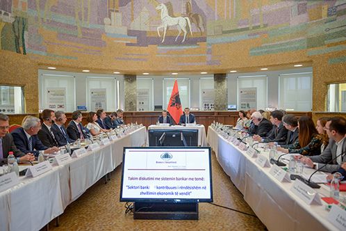 "Governor Sejko's discussion with the banking sector on ""The banking sector as an important contributor to the country's economic development"""