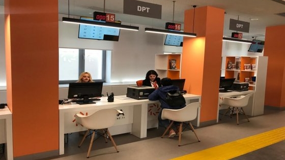 GDT with a dedicated desk at the Integrated Services Center in Shkodra