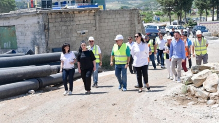 Balluku inspects works on Tepelena bypass