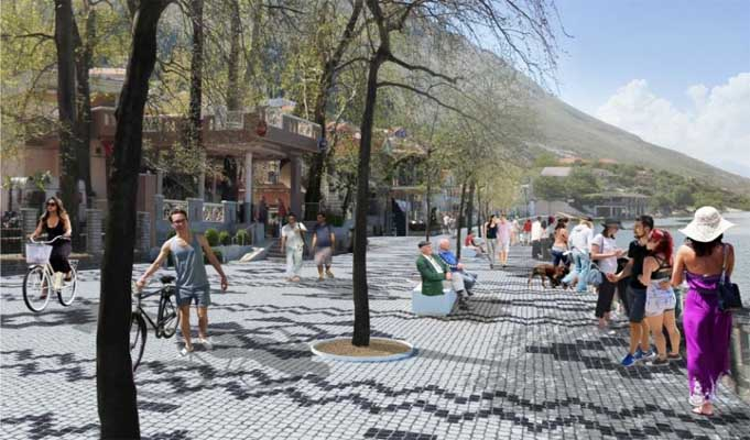 The revitalization of Shiroka Square begins with the mosaic of tradition